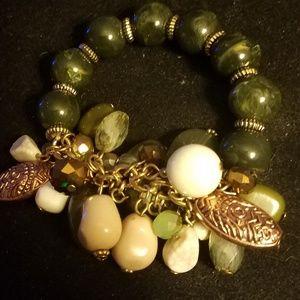 Jewelry - Green charm bracelet